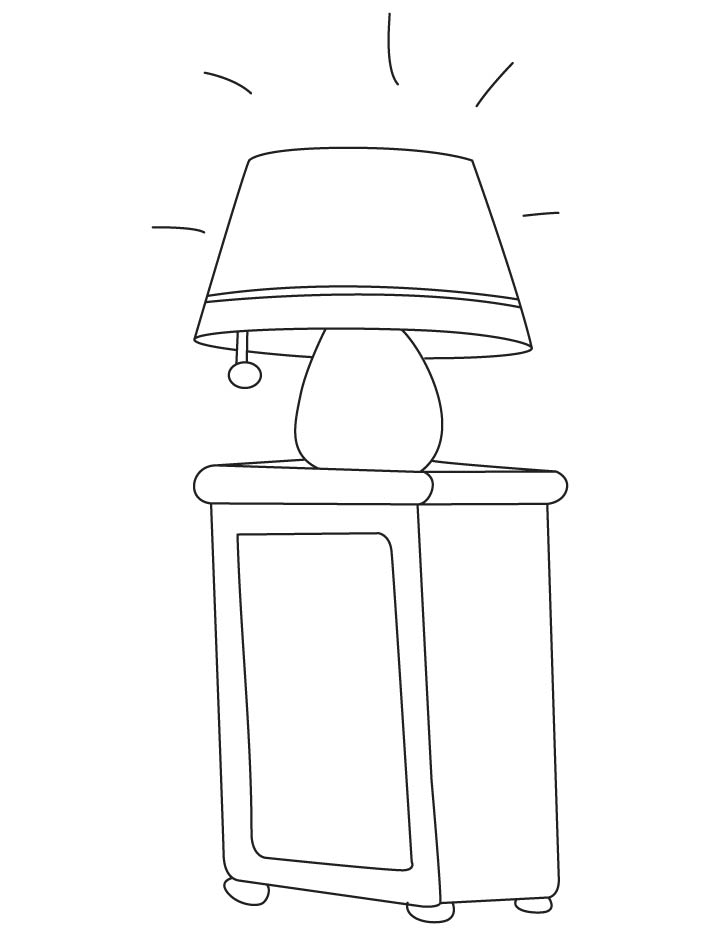 table coloring page az coloring pages