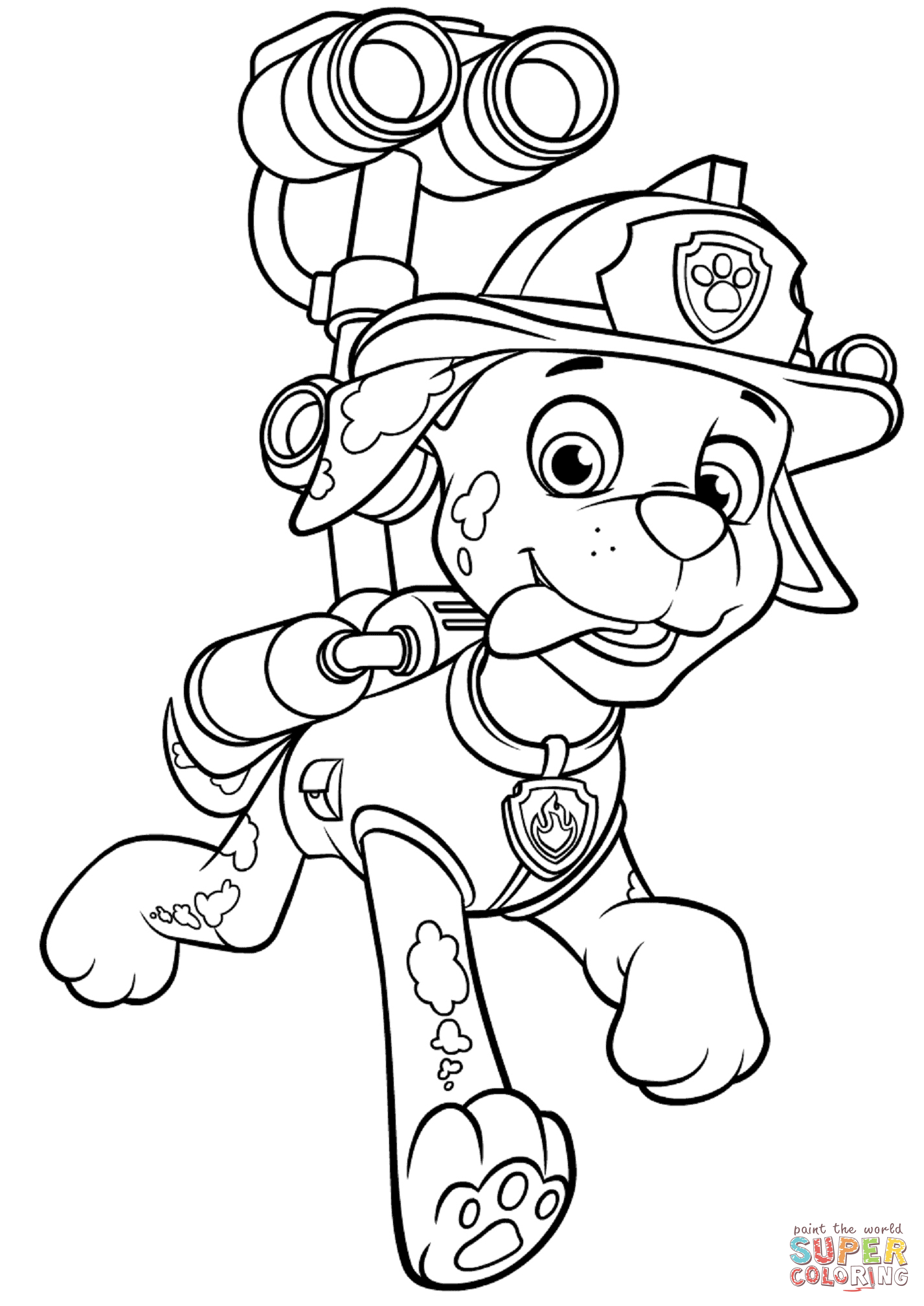 Coloring Pages Paw Patrol Marshall : Paw patrol coloring pages marshall and firetruck
