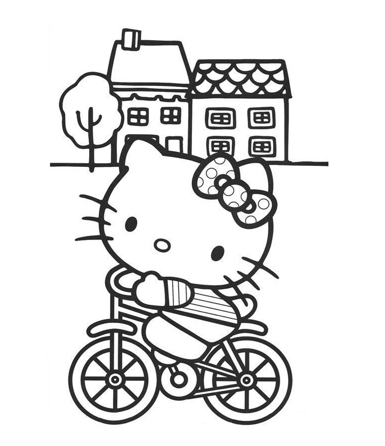 Riding Bicycle Coloring Page For Kids | Transportation Coloring ...