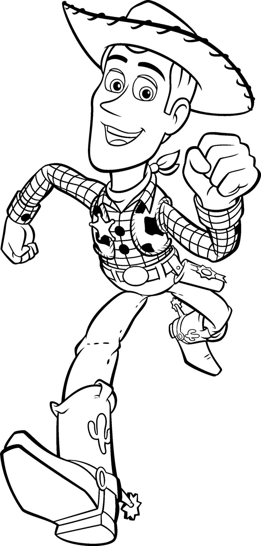 Toy Story, Woody And Coloring Pages   Coloring Home