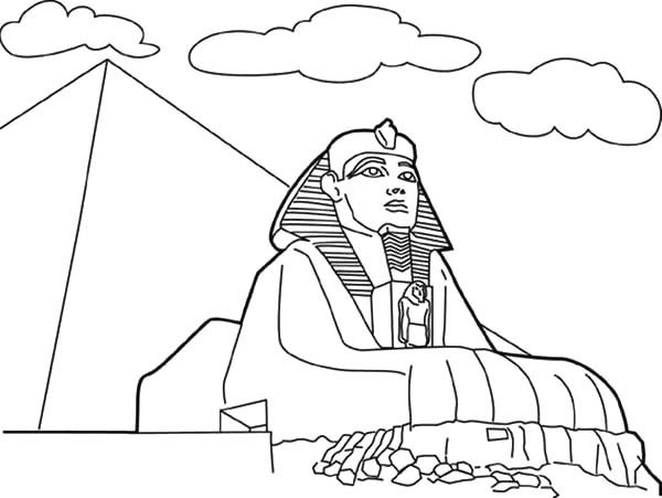 egyptian sphinx coloring pages - photo#17