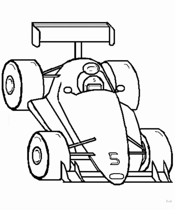 Indy Car Coloring Pages - AZ Coloring Pages