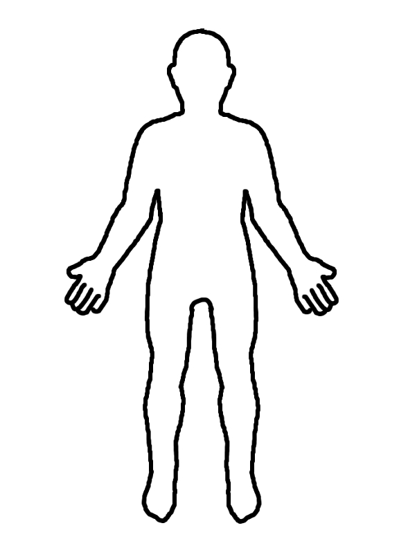 Outline Of Person Coloring Page Coloring Home Coloring Page Person