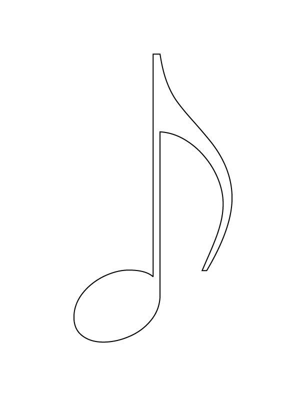 music note symbol coloring pages - Google Search | Papercraft ...