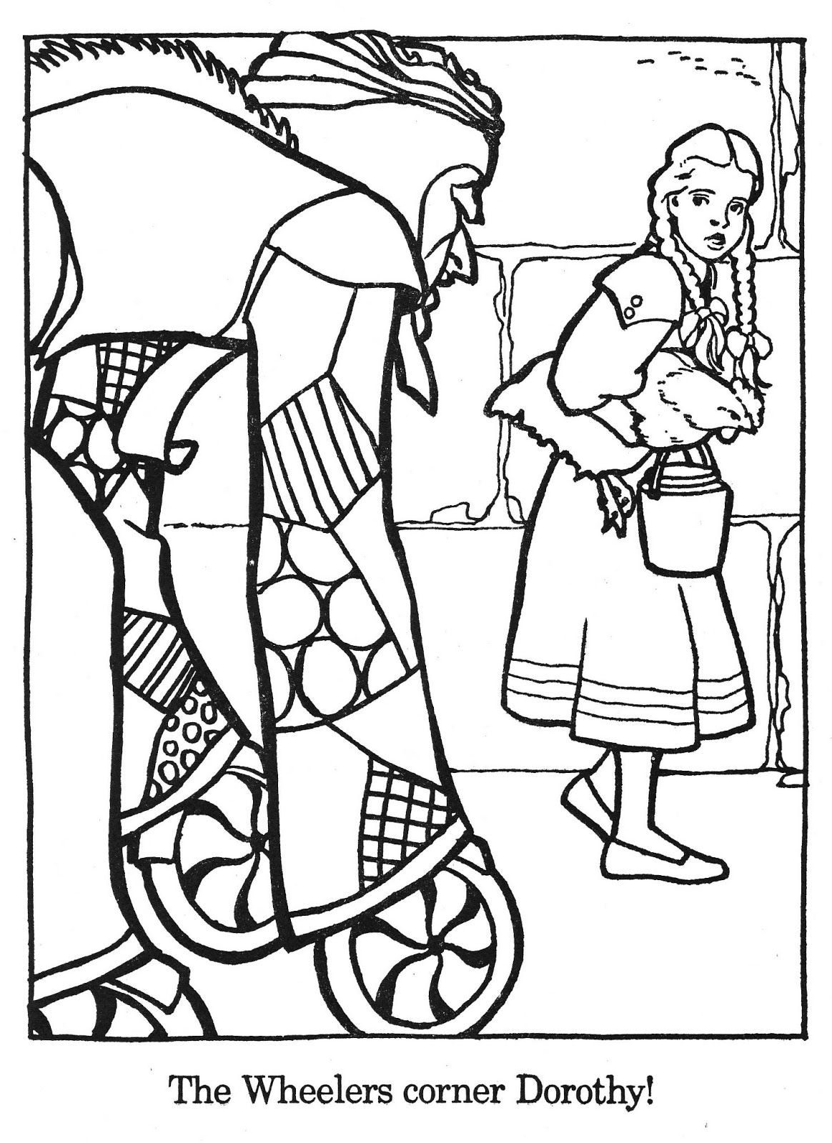 Brick coloring page coloring home for The wonderful wizard of oz coloring pages