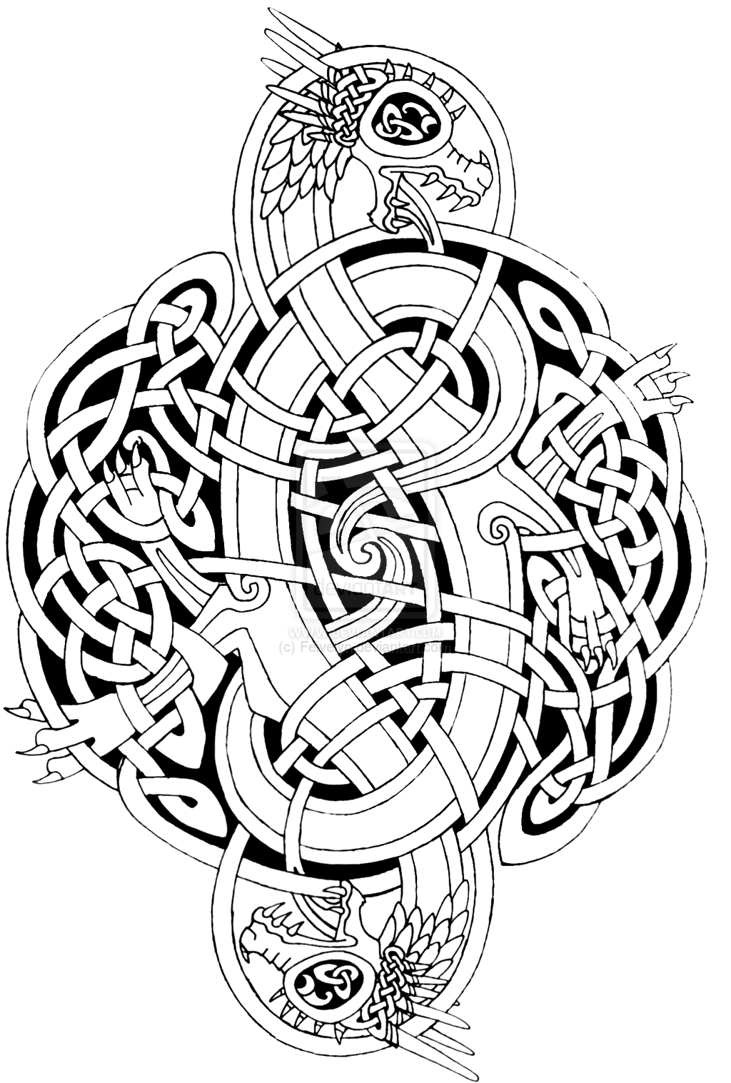 Printable Celtic Mandala Coloring