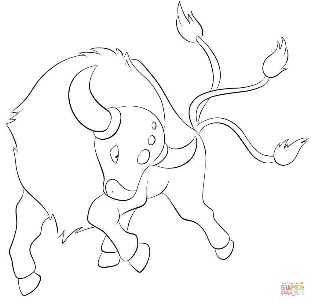 tauros coloring page free printable coloring pages coloring home
