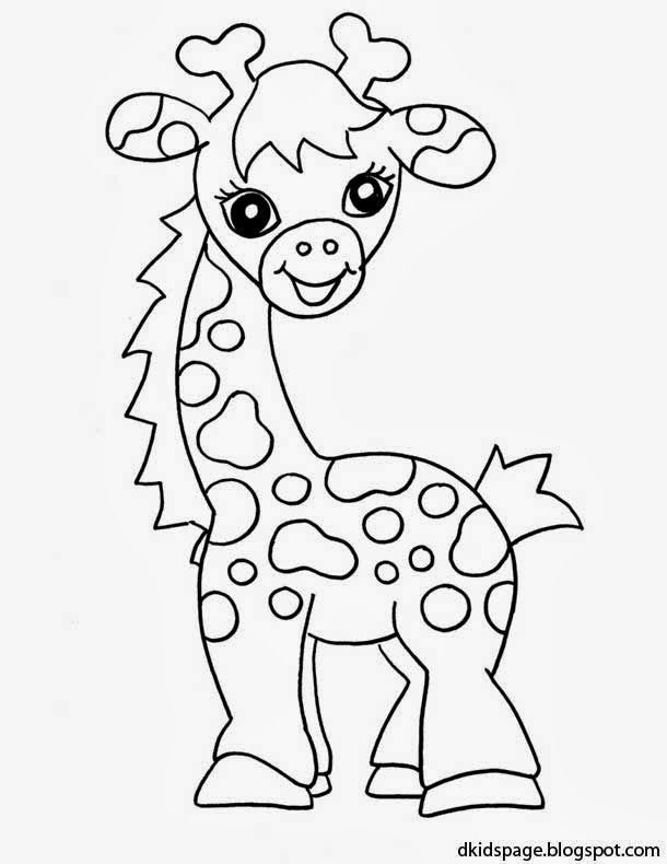 Kids Page Baby Giraffe Coloring Pages