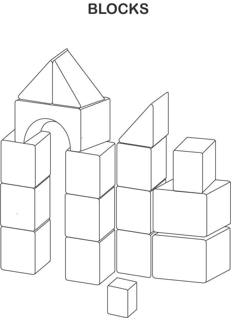 Lego Block Coloring Pages Coloring Home