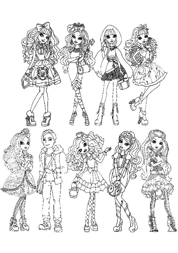 Ever After High All Characters Coloring Pages - Download ...