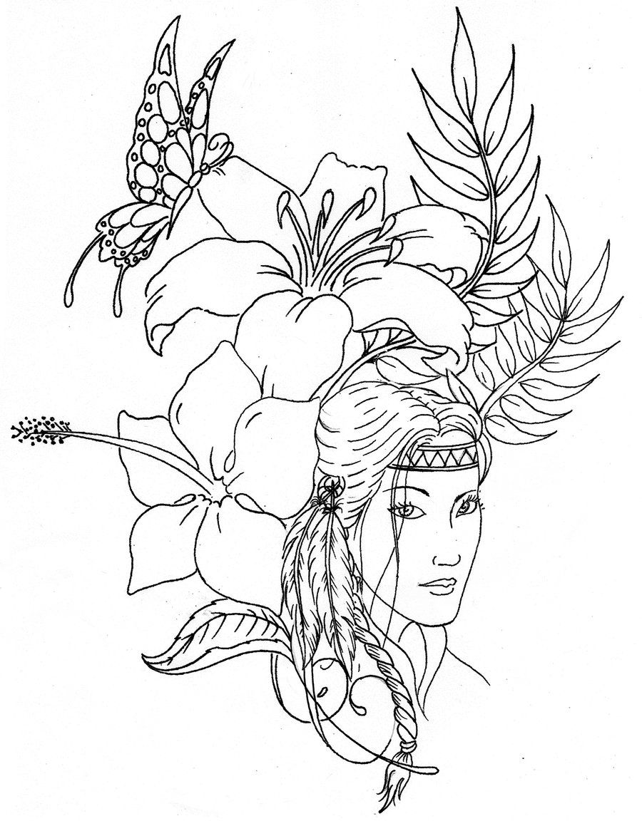 printable native american coloring pages - native american designs coloring pages printables