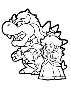 Bowser Jr Coloring Page Coloring Pages For Kids And For Adults
