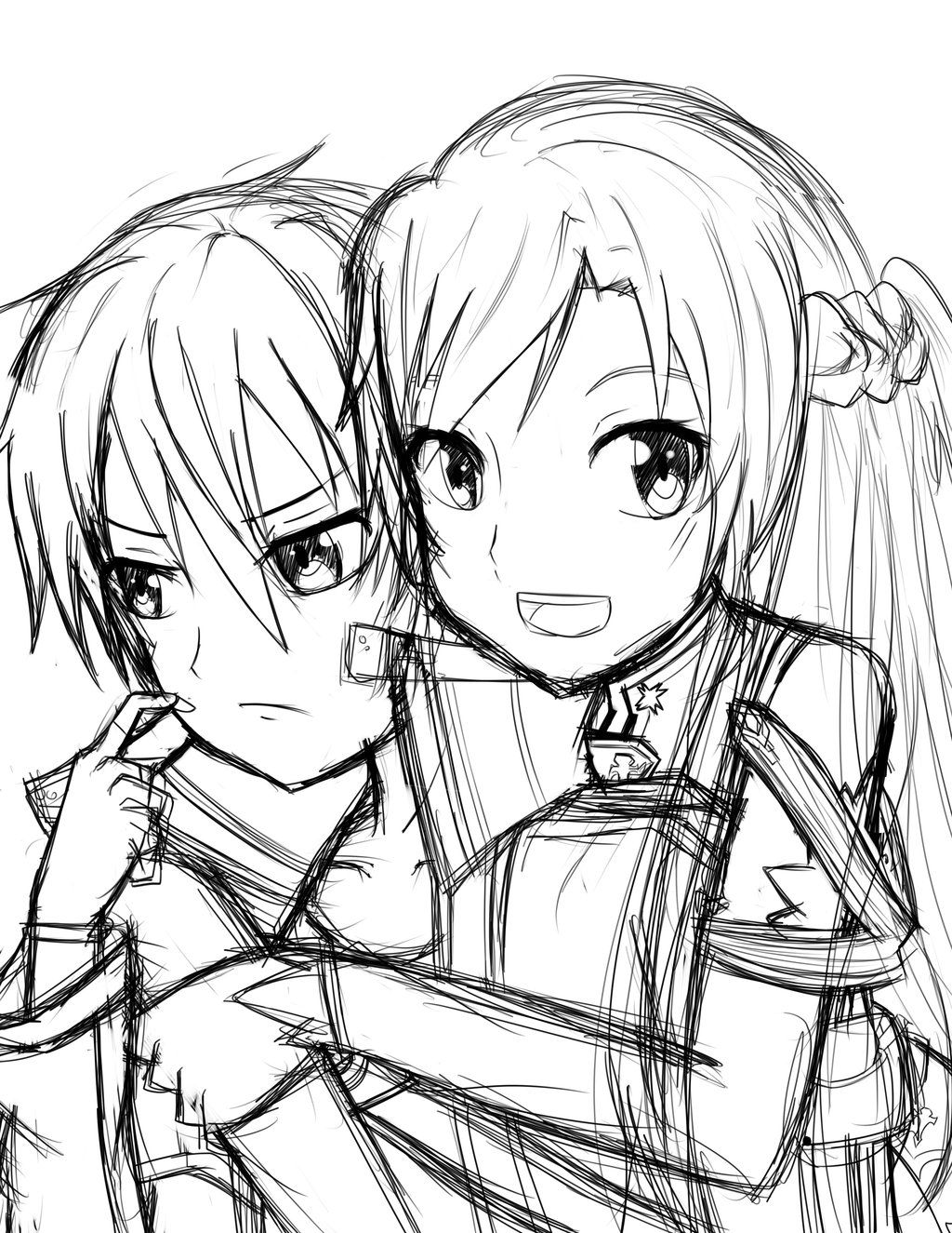 Sword art online coloring pages coloring home for Sketch it online