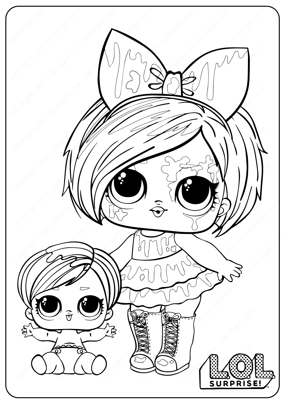 Printable LOL Surprise Splatters Coloring Pages - Coloring Home