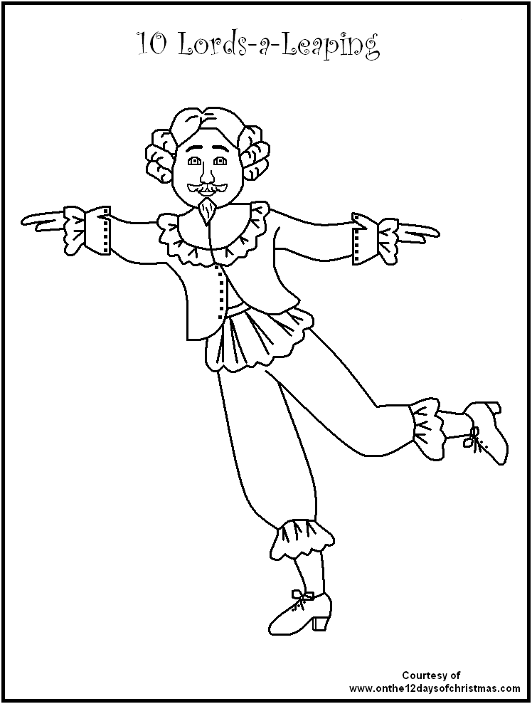 christmas coloring pages 12 days - photo#2
