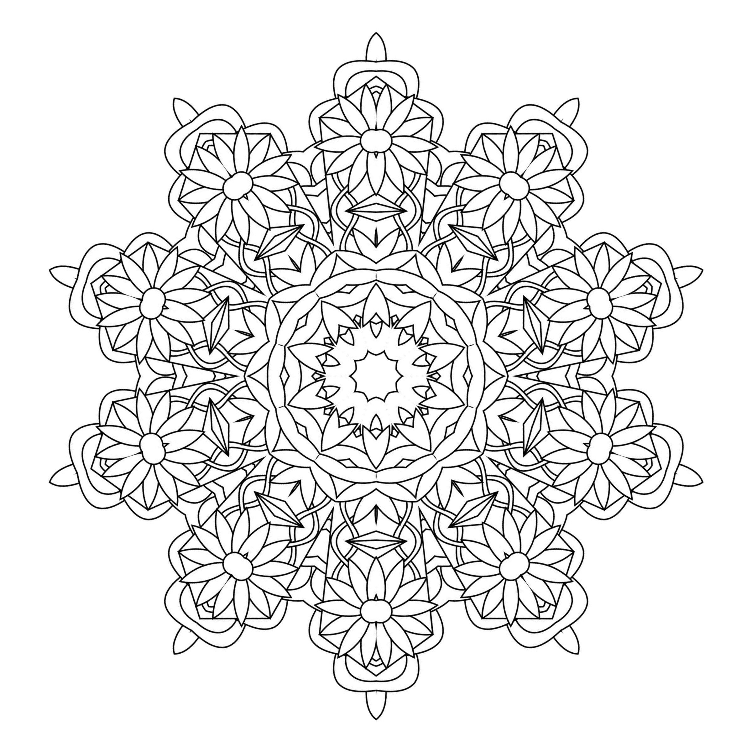 Kaleidoscope Coloring Page - Coloring Home