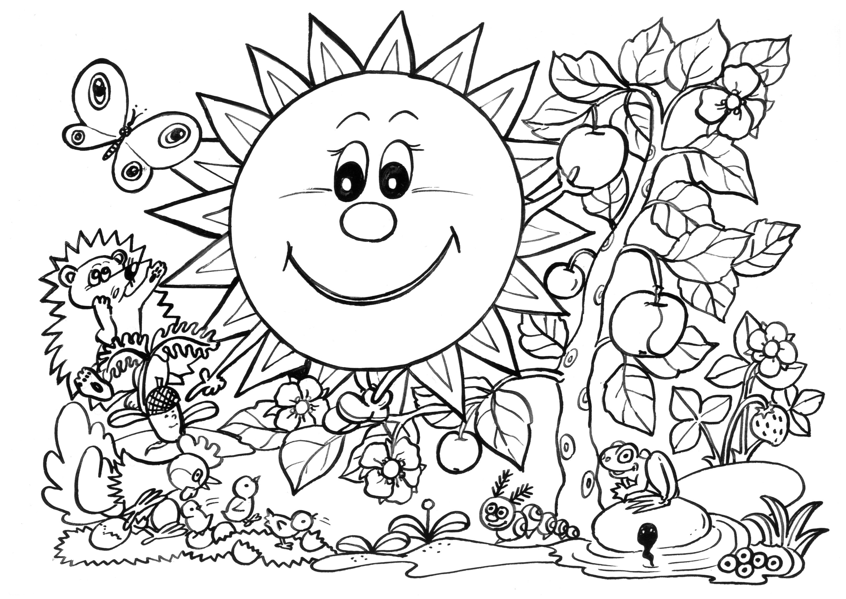 Spring Break Coloring Pages - Coloring Home