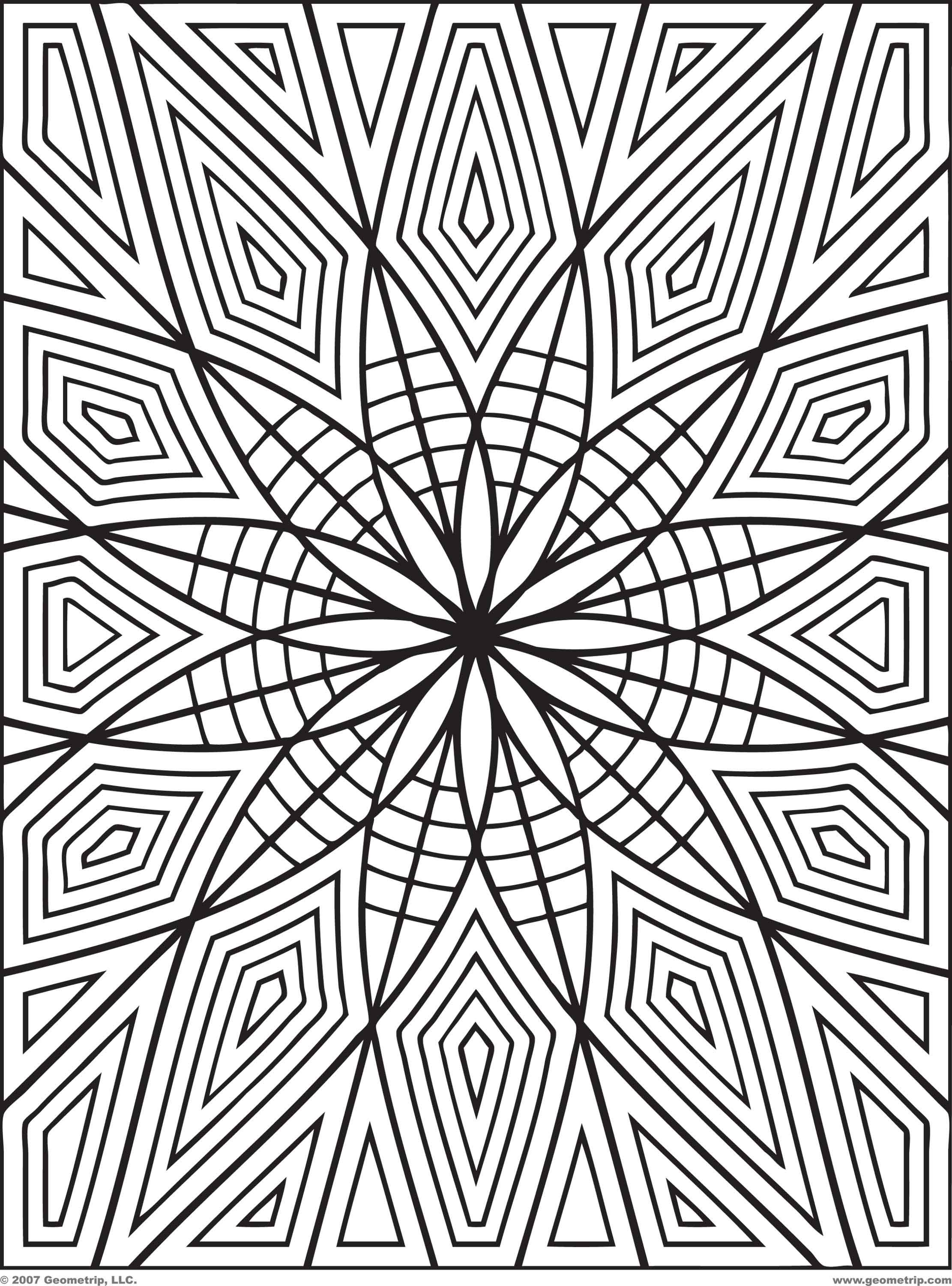 printable geomatric coloring pages - photo#19
