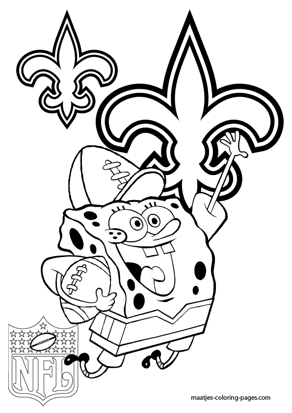 New Orleans Saints Coloring Page Coloring Home