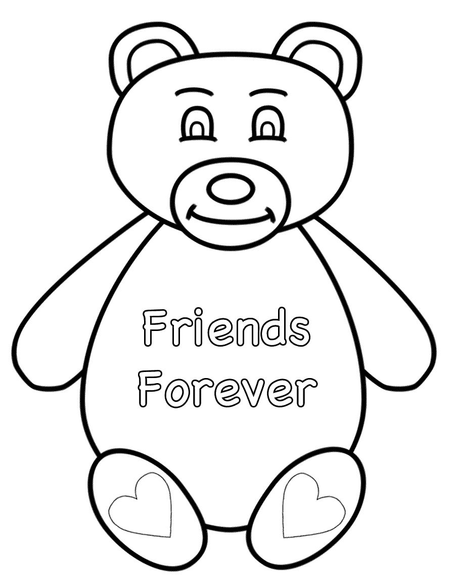 Bff Coloring Pages Best Of Friends Forever Page Logo And | Free ... | 1150x900