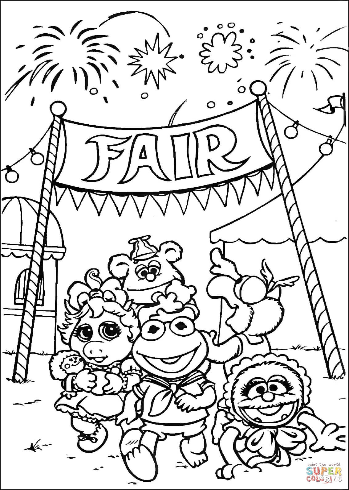Coloring Pages Of The Fair Coloring