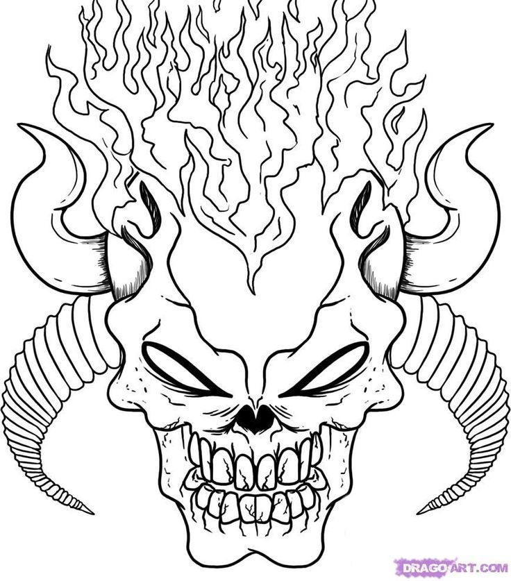 - Skull Printable Coloring Pages - Coloring Home