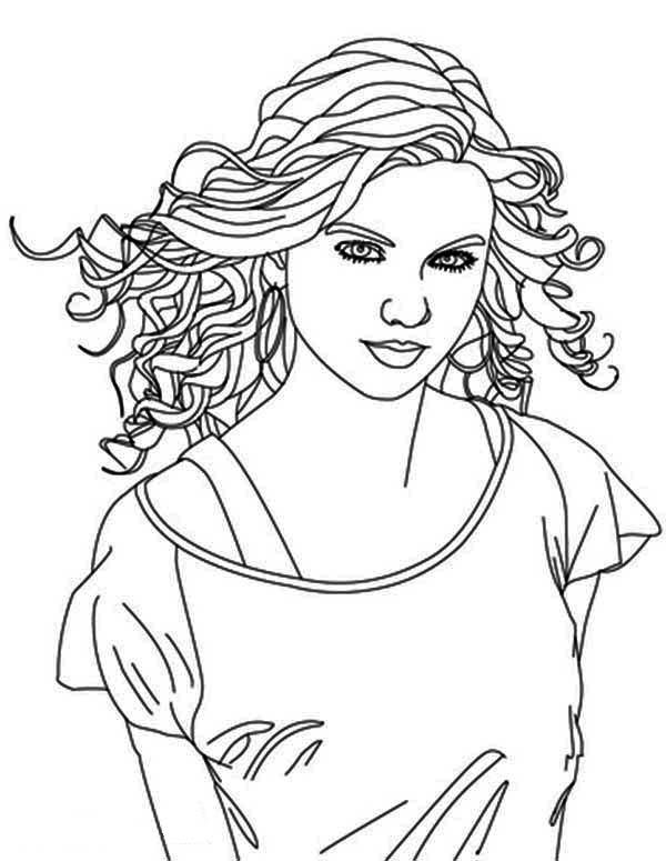 taylor swift coloring page - Taylor Swift Coloring Pages