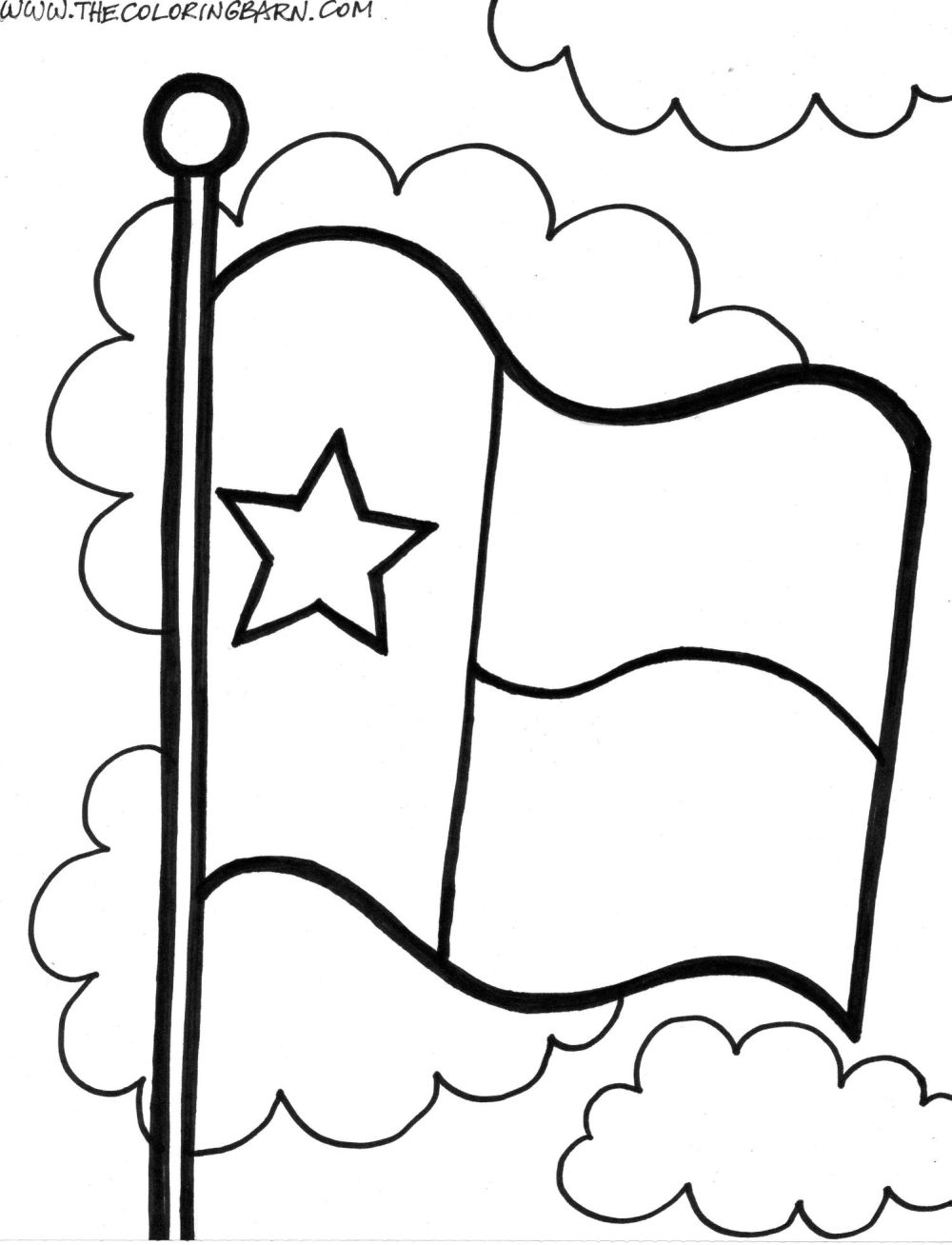 Texas coloring pages coloring home for State of texas symbols coloring pages