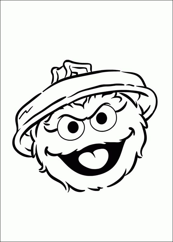 coloring pages oscar the grouch - photo#3