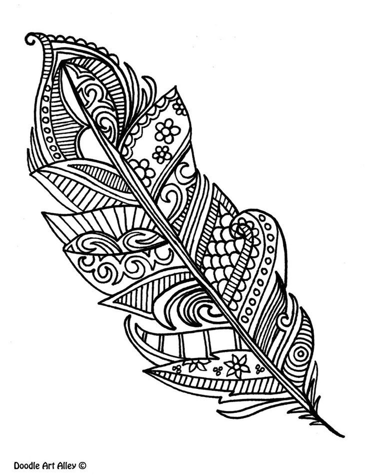 Feathers coloring page az coloring pages Coloring books for adults india