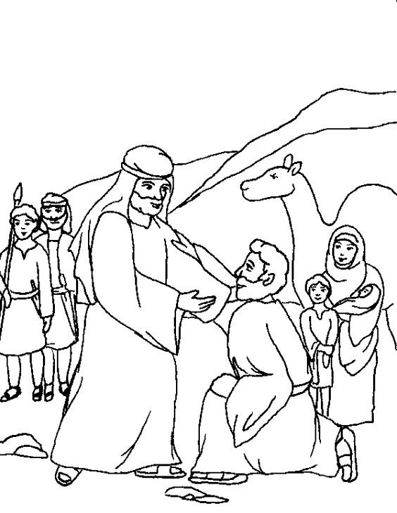 Jacob Meets Esau Coloring Pages - Coloring Home