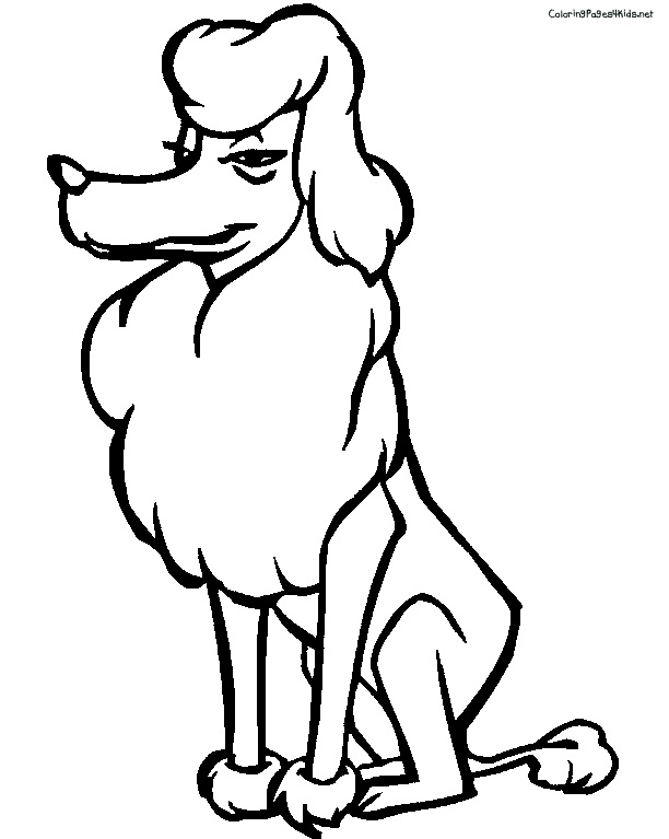 coloring pages of poodle dogs - photo#19