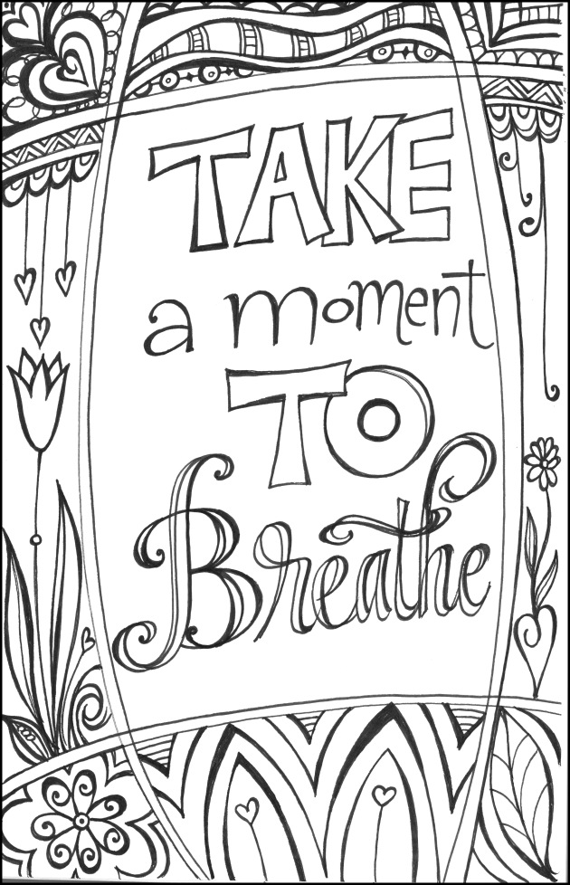 Relaxation Coloring Pages - AZ Coloring Pages