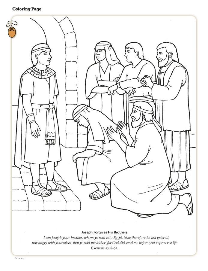 joseph the dreamer coloring page