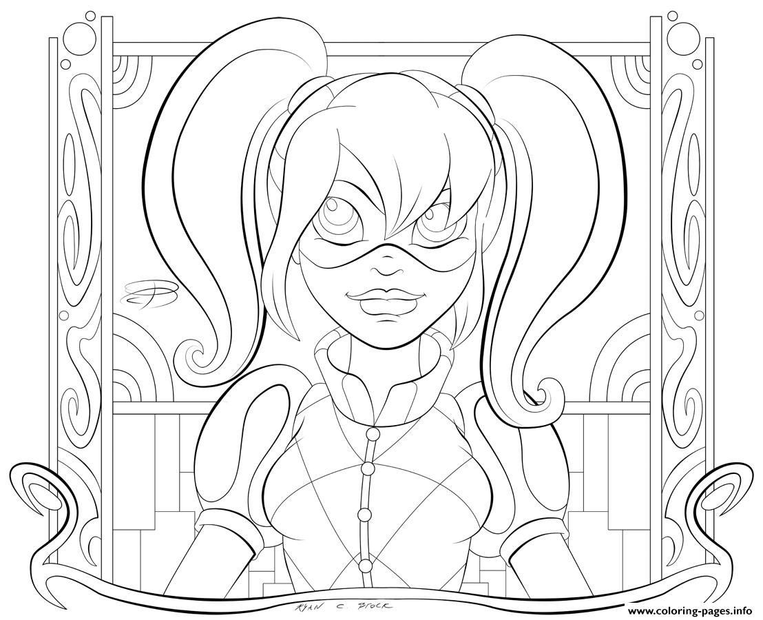 harley quinn coloring pages - photo#15