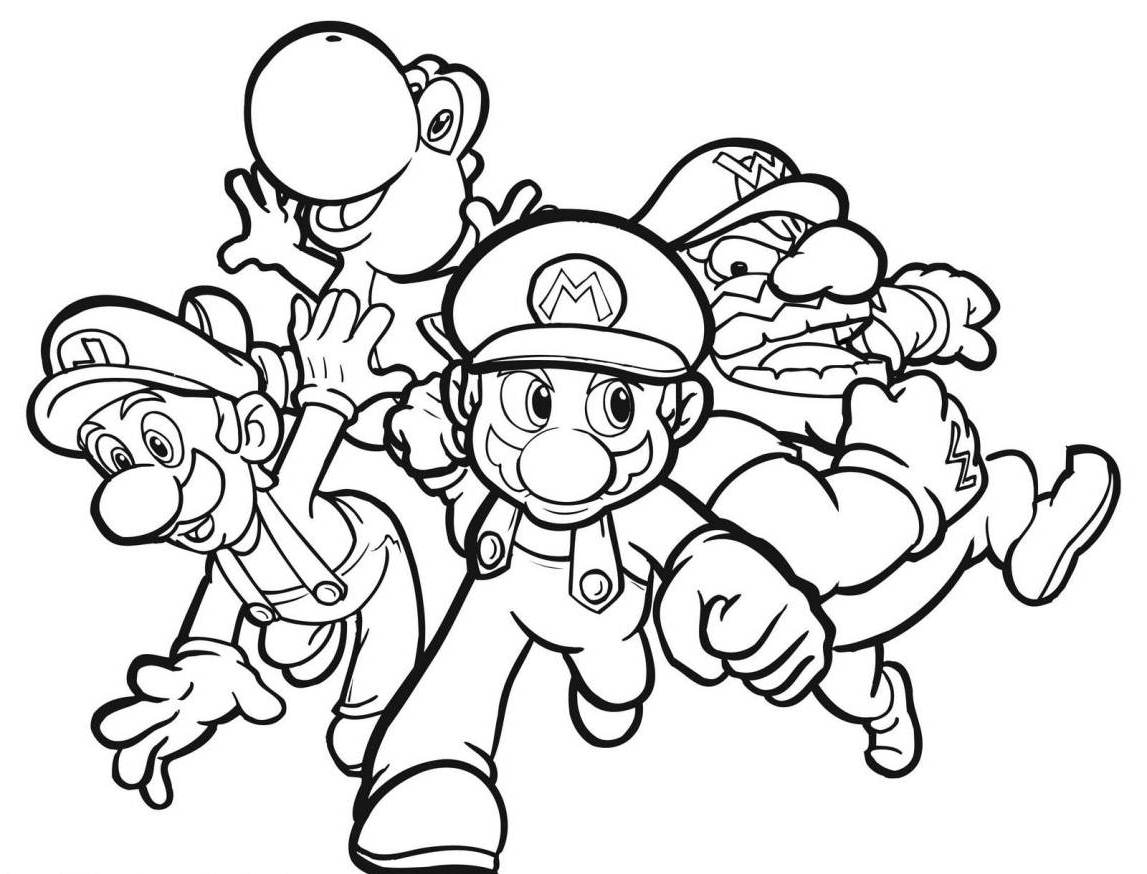 Coloring pages for kids mario bros - Mario Coloring Pages