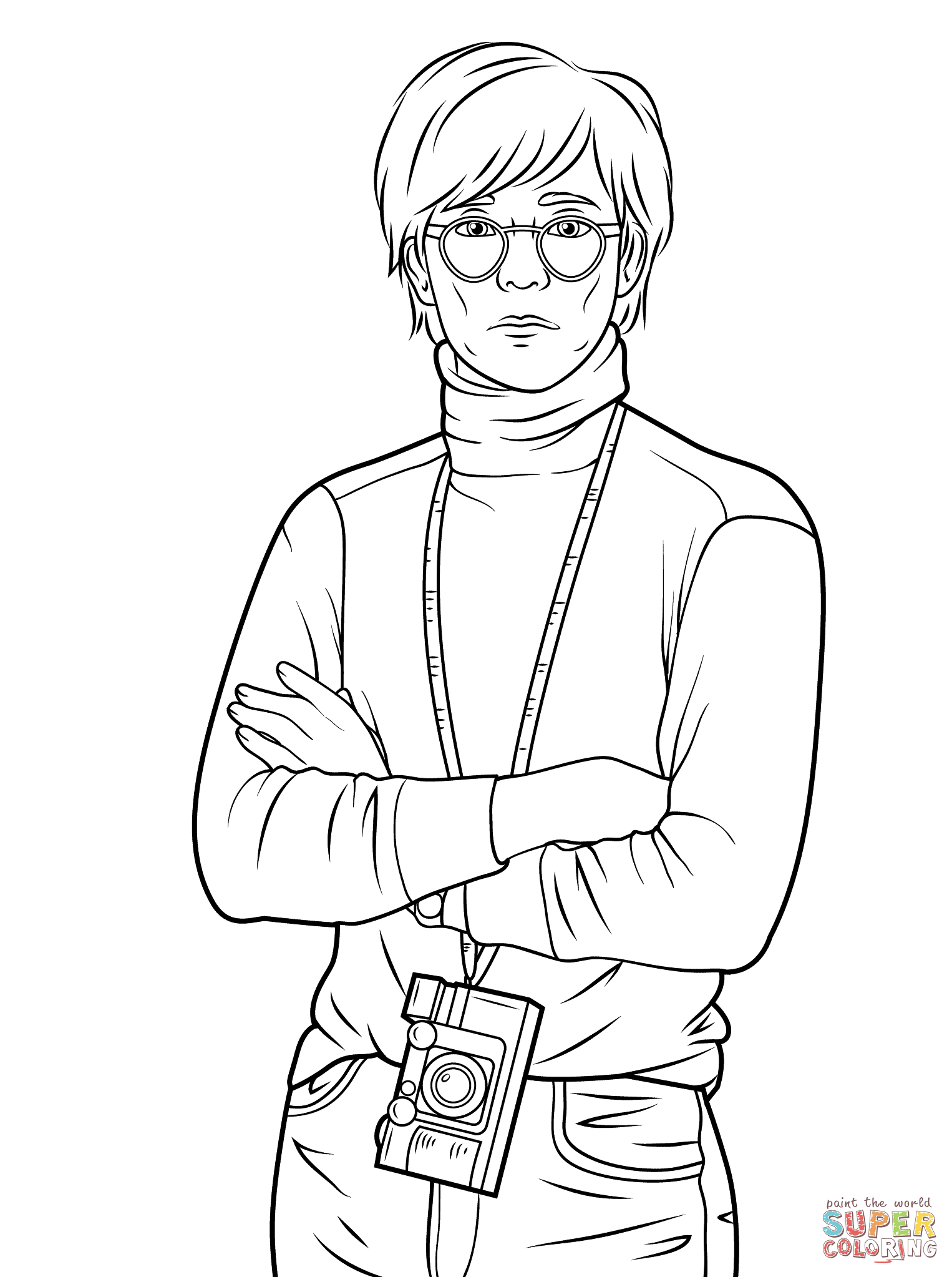 Andy Warhol Coloring Pages Free Coloring Home