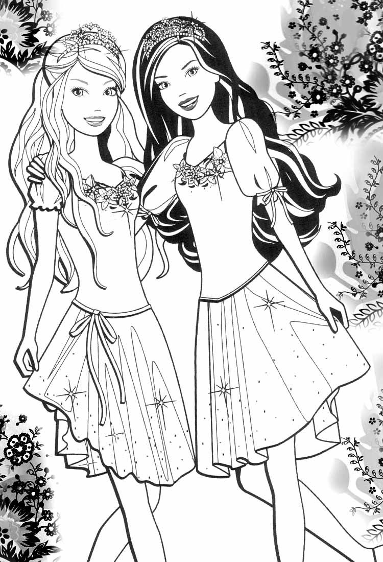 Barbie Coloring Pages To Color - Coloring Pages For All Ages