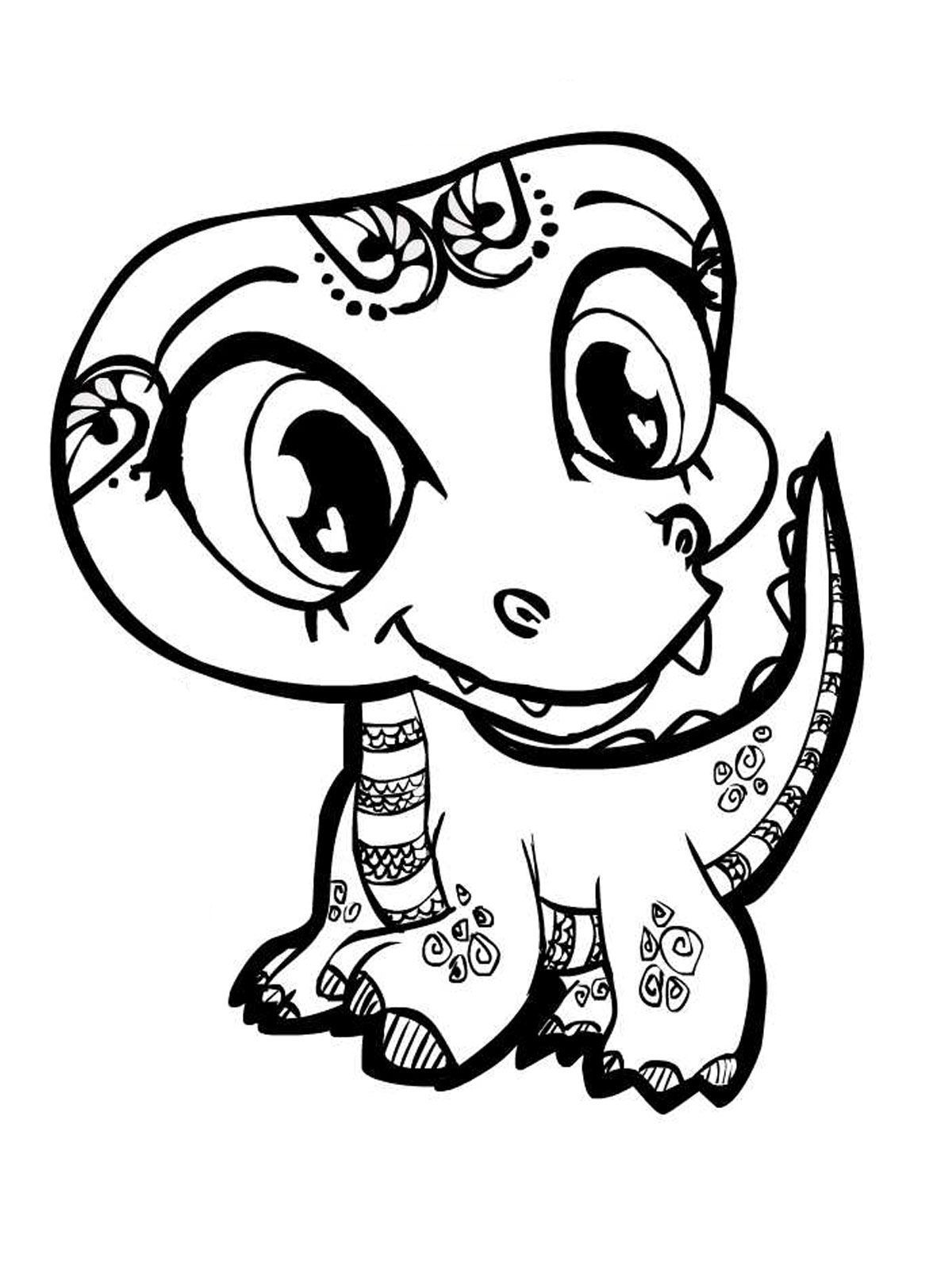 Coloring Pages Baby Cartoon Animals Coloring Home - printable baby dinosaur coloring pages