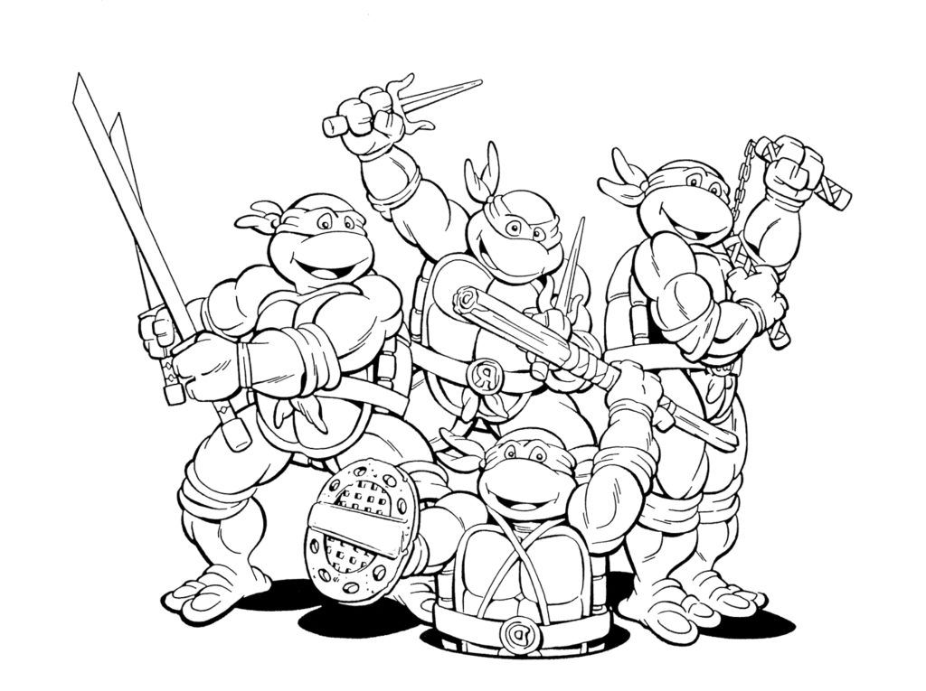 photograph about Printable Ninja Turtle Coloring Pages called Printable Ninja Turtles Coloring Web pages - Coloring Household