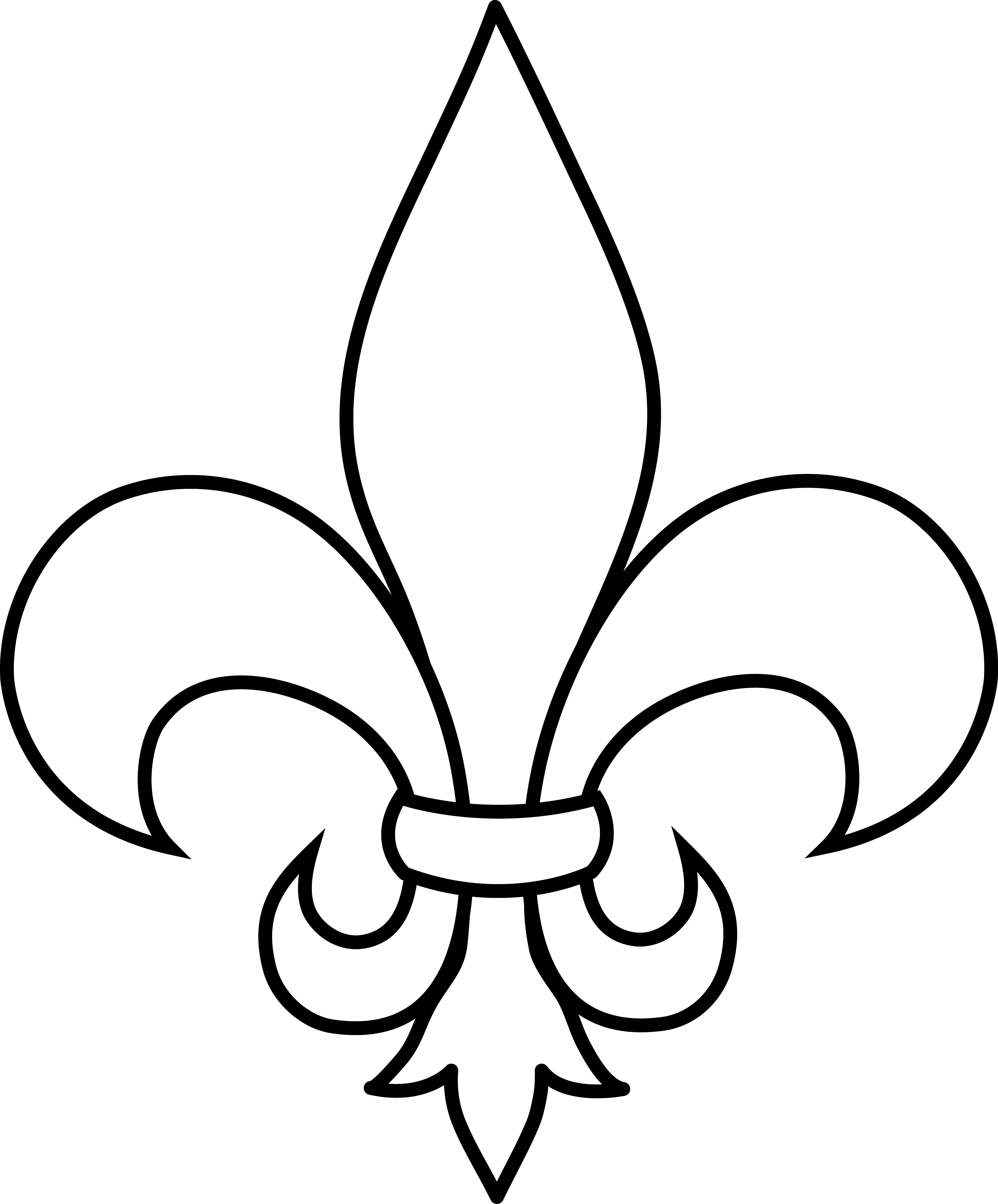 fleur de lis coloring pages - photo#1