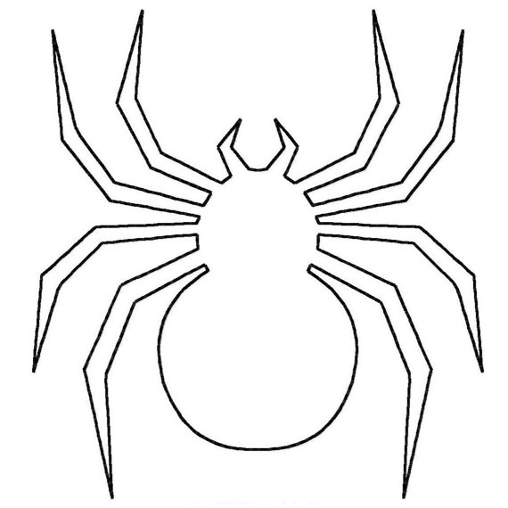 Spider Outline - Coloring Home