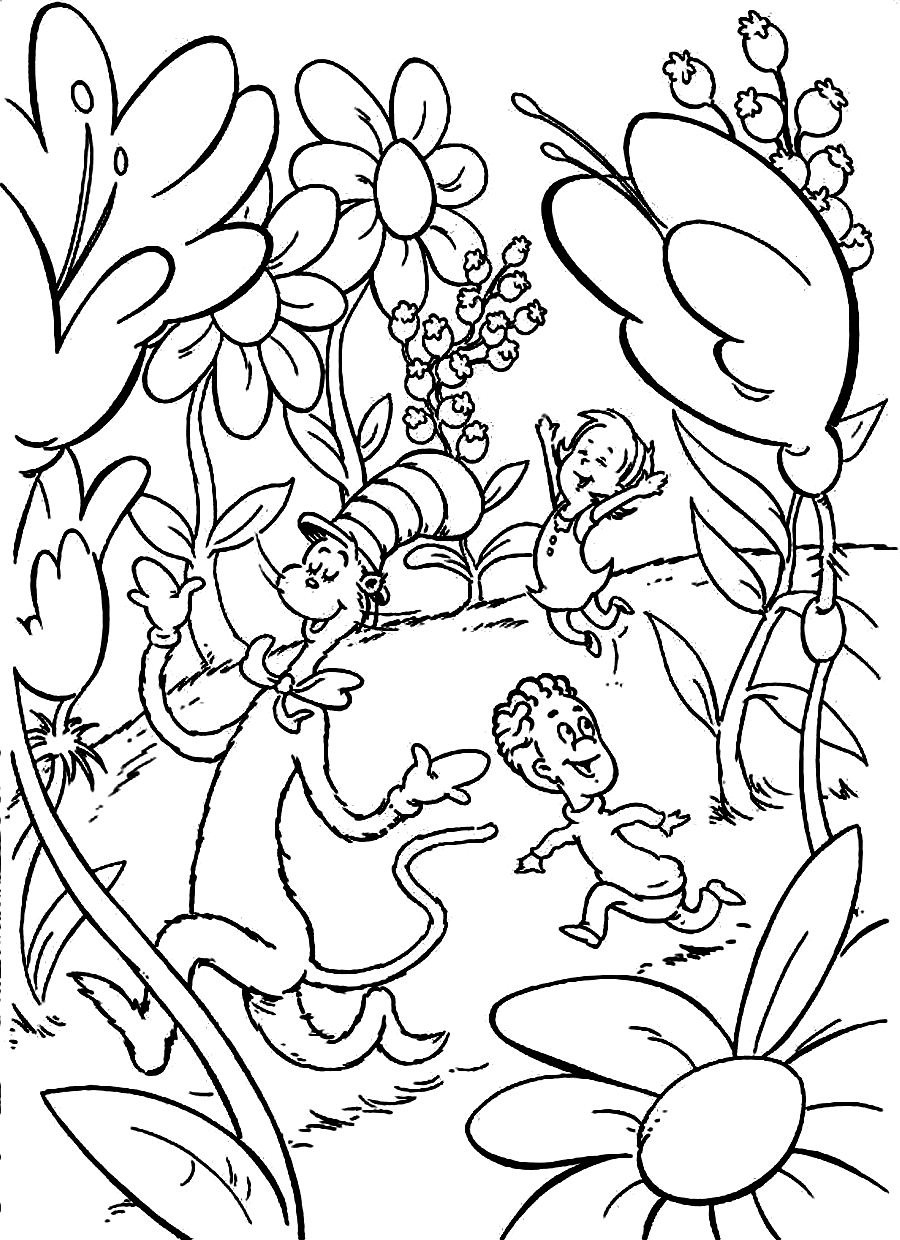 Dr Seuss Thing 1 Coloring Page