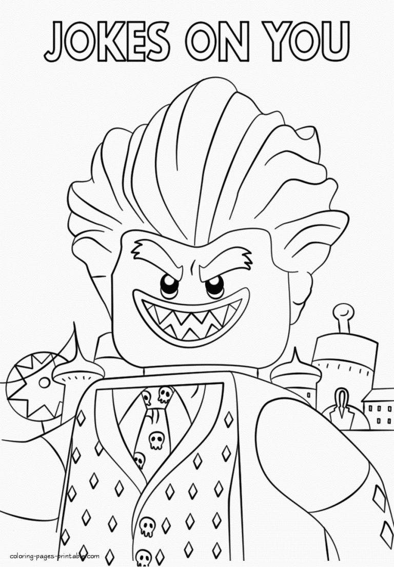 Coloring Pages : Joker Coloring Pages Photo Ideas Lego Free ...