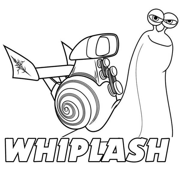 Awesome Whiplash of Disney Turbo Coloring Page | Coloring ...