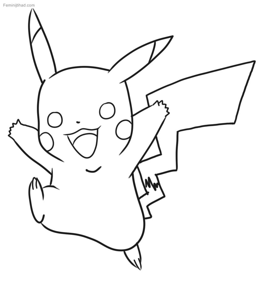 Top Coloring Pages: Cute Coloring Tinyq Free Pikachu In For ...