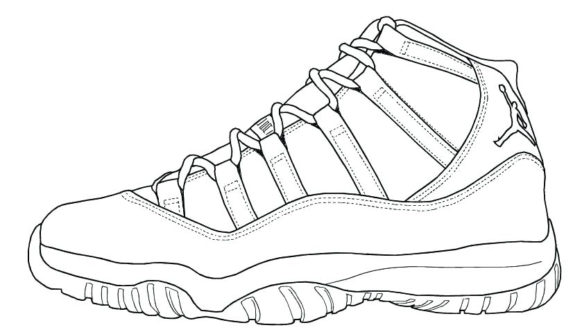 - Sneaker Coloring Pages - Coloring Home