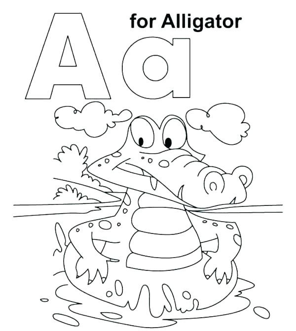 The Letter A Coloring Pages - Coloring Home