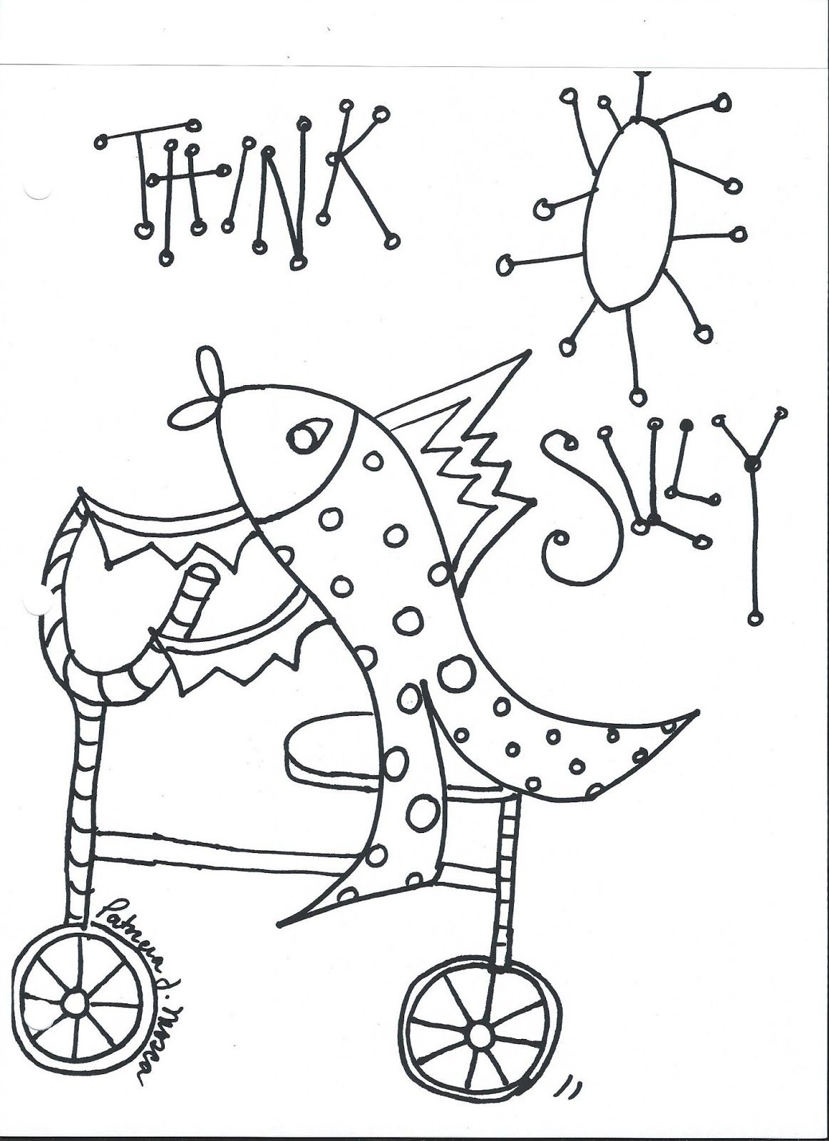 Coloring book page of a playground - The Creative Playground The Beginning Coloring Book Page