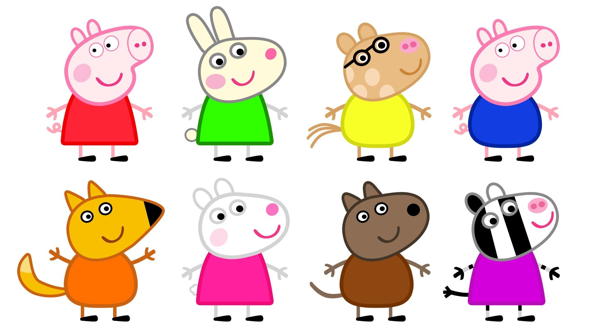 Peppa Pig And Friends Coloring Pages Print - Coloring Home